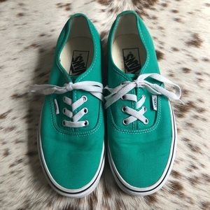 Vans Authentic shoes - Seafoam Green Sz 7.5